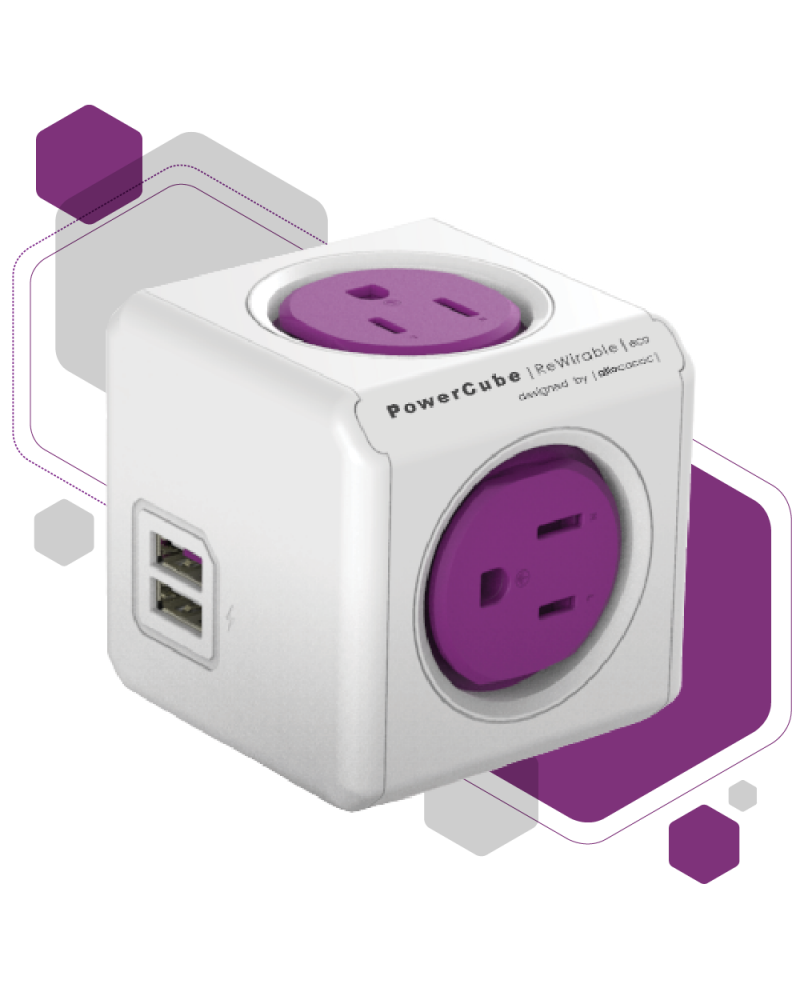 PowerCube Rewirable USB + 4 adaptadores